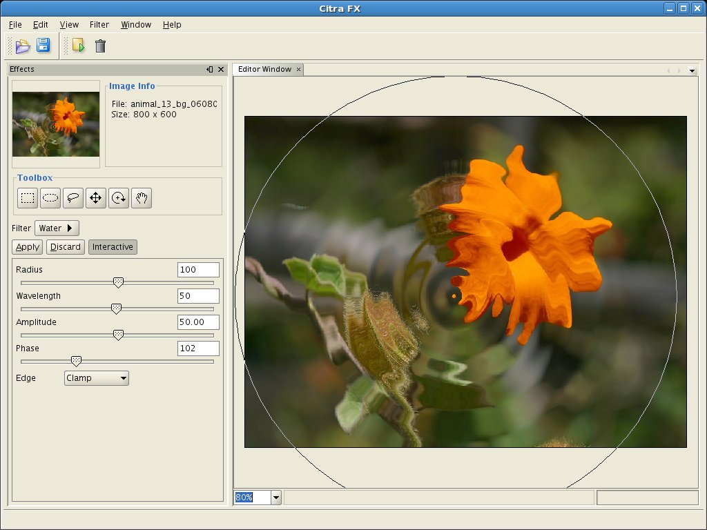 Citra FX Photo Effects Screen shot